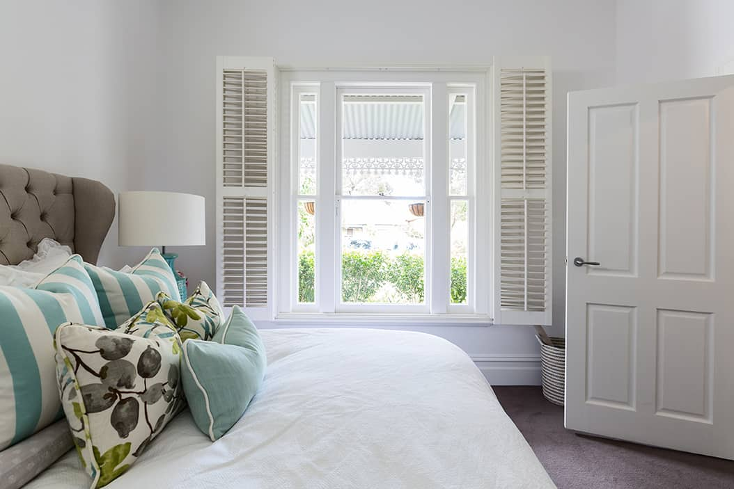 Benefits of Custom Plantation Shutters in Norwalk, Connecticut (CT) for Bedroom Beauty, Simplicity, and Window Design
